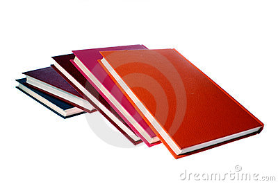 Hardcover books isolated on white