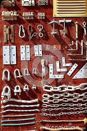 Hardware equipment vintage wood display