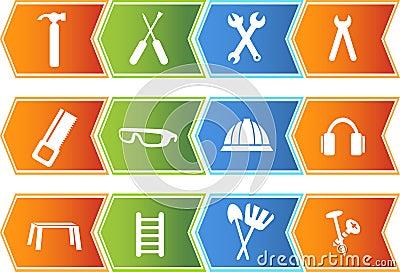 Hardware Icon Set: Arrow Button Series