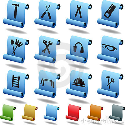 Hardware Icon Set: Scroll Series