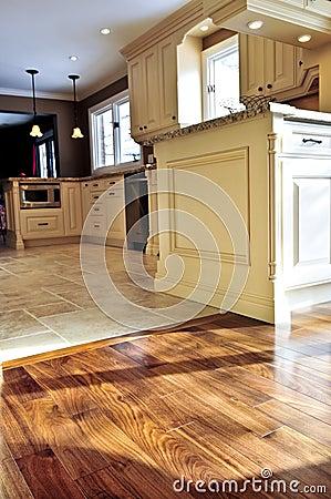 Free Hardwood And Tile Floor Stock Image - 7270781