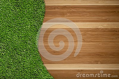 Hardwood Floor and Grass