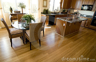 Hardwood Flooring in  open plan home