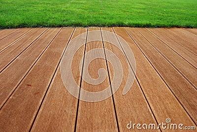 Hardwood terrace