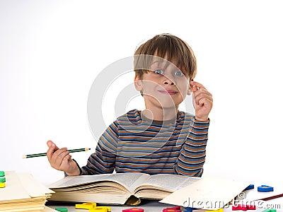 hardworking boy stock photo image 43072483