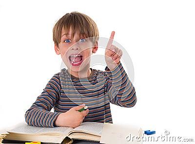 hardworking boy stock photo image 43072557