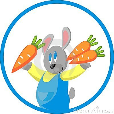 Hare gift carrot in color 10