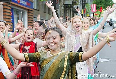Hare Krishna followers Editorial Photography