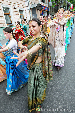 Hare Krishna followers Editorial Stock Image