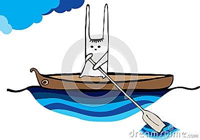 Hare sailing canoe