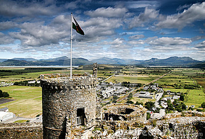 Harlech castle, north Wales, United Kingdom
