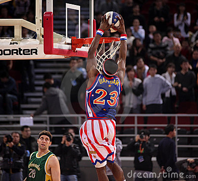 Harlem Globetrotters 2009 China Tour Show Editorial Photo