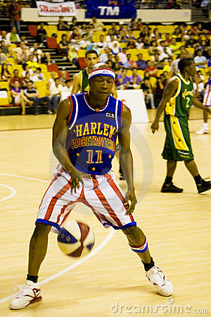 Harlem Globetrotters Basketball Action Editorial Stock Image