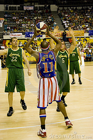 Harlem Globetrotters Basketball Action Editorial Photography