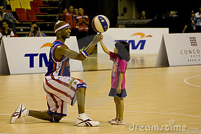 Harlem Globetrotters Basketball Action Editorial Stock Photo