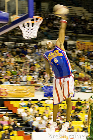 Harlem Globetrotters Basketball Action (Blurred) Editorial Stock Photo