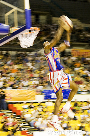 Harlem Globetrotters Basketball Action (Blurred) Editorial Stock Image