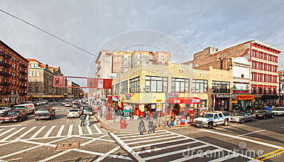 Harlem street scene Editorial Photography