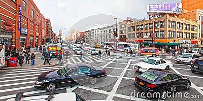 Harlem street scene Editorial Photography