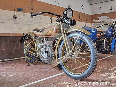 Harley Davidson 350cc Single Cylinder (1926) Editorial Image