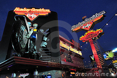 Harley Davidson Cafe in Las Vegas Editorial Stock Photo