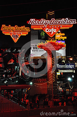 Harley Davidson cafe in Las Vegas Editorial Photo