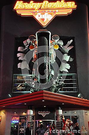 Harley Davidson cafe in Las Vegas Editorial Photo