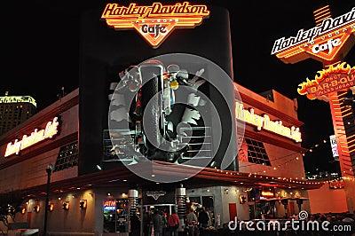 Harley Davidson cafe in Las Vegas Editorial Image