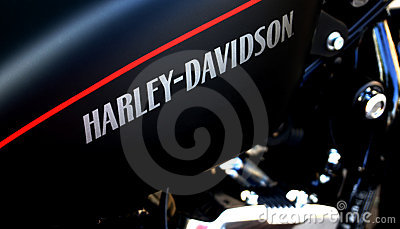 Harley Davidson Logo on a bike Editorial Stock Photo