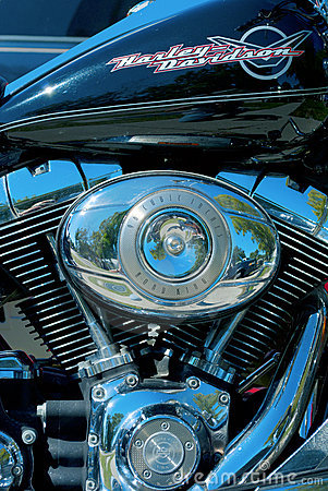 Harley Davidson motor closeup Editorial Photo