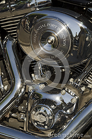 Harley Davidson Motorcycle Brand Editorial Photography