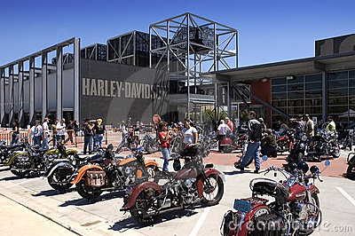 Harley Davidson Museum in Milwaukee, WI Editorial Image