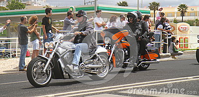 Harley Davidson parade Editorial Photo