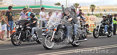 Harley Davidson parade Editorial Stock Photo