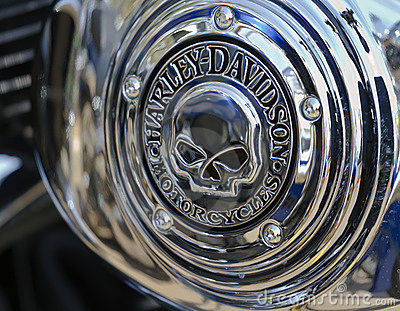 Harley Davidson skull logo Hardy Butts 2010 Editorial Stock Image