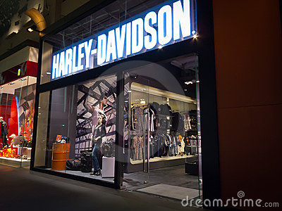 Harley Davidson store Editorial Stock Photo