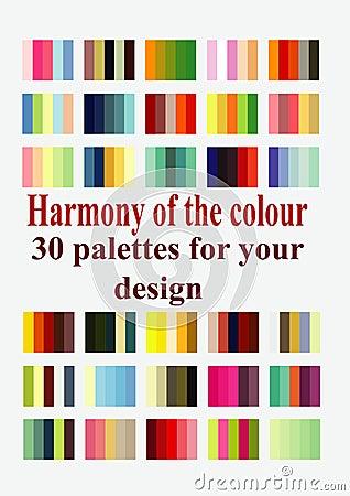 Harmonious color palettes for design