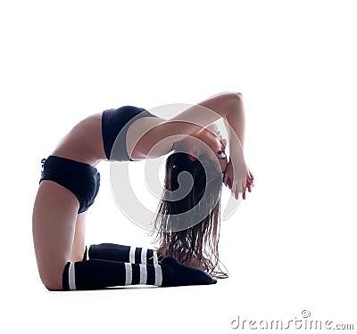 Free Harmonous Flexible Brunette Posing In Studio Stock Image - 34712931
