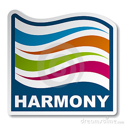 Harmony abstract wave sticker