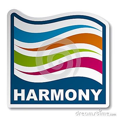 Harmony abstract wave sticker