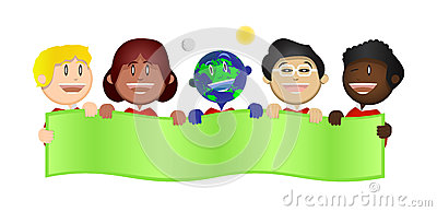 Harmony Kids Save the Earth Banner Illustration