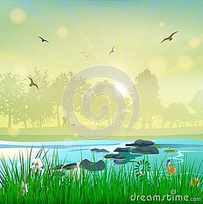 Free Harmony Nature Landscape Sunset Love Couple Stock Images - 102145944