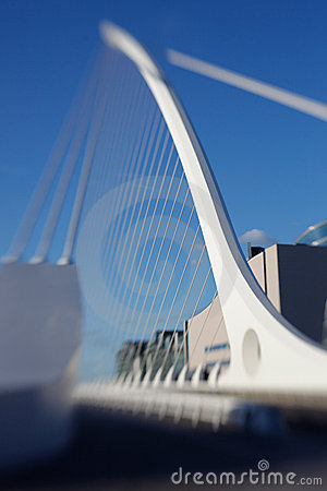 Harp bridge Dublin Editorial Image