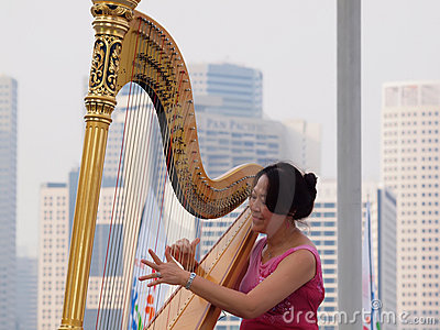 Harp Performance Editorial Photography