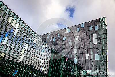 Harpa Concert Hall Editorial Stock Image
