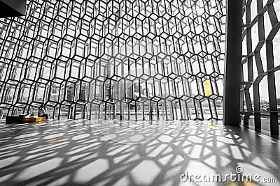 Harpa interior Editorial Image