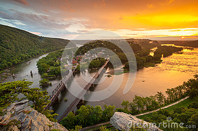 Harpers Ferry National Historic Park Sunset