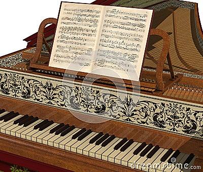 Harpsichord Keyboard