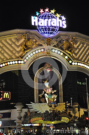 Harrah s Hotel and Casino in Las Vegas Editorial Photo