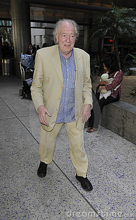 Harry Potter actor Michael Gambon at LAX airport Editorial Photography